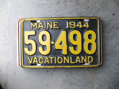 1944 44 Maine Me License Plate 59498
