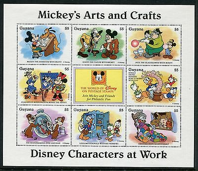 Guyana 1995 Disney Mickey's Arts and Crafts MS MNH