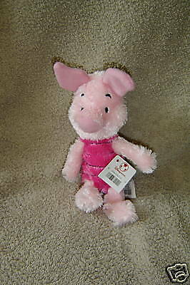 "Disney Store Plush 8"" Piglet New With Tags ~  L17"