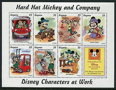 Guyana 1995 Disney Hard Hat Mickey and Company MS MNH