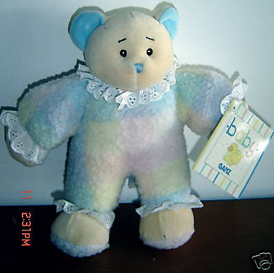 """New Baby Ganz Cozy Cuddle Bear  8"""" Pastel Colours W/tags Vhtf ~  D8"""