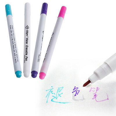 1Pc Auto Vanishing Marking Pen Water Erasable Fabric Textile Ink Tool 4 Colors