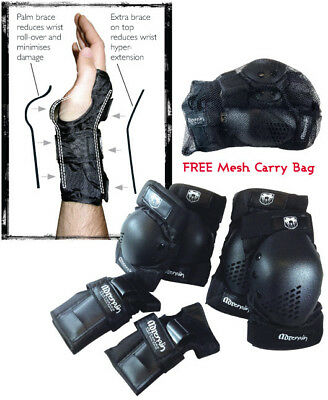 ADRENALIN Skate Protection 6 Piece Set ELBOW, KNEE PADS, WRIST-BRACE GUARDS