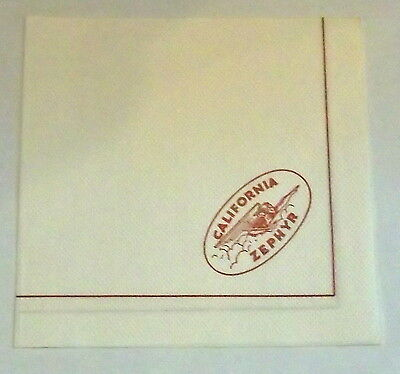 California Zephyr Railroad Paper Cocktail Napkin
