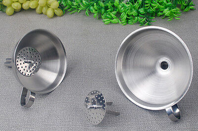 Stainless Steel Kitchen Craft Large Pouring Funnel With Removable Filter XY927