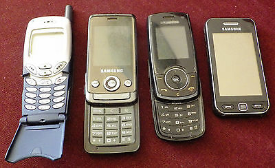 Lot Of 4 Vintage Collectible Mobile Phone Samsung R200S