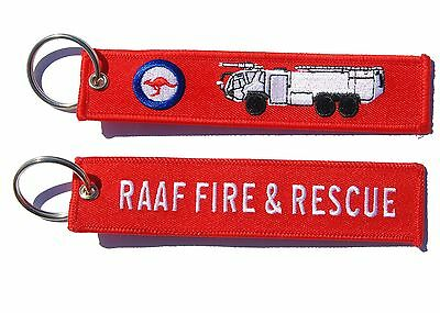RAAF Fire and Rescue Panther Key Ring Key Tag Luggage Tag Zipper Pull