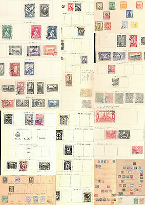 Egypt Turkey Middle East Early M&U on OLD Pages(Approx 85 Stamps) KS2346