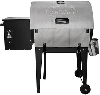 Traeger Thermal Insulation Blanket Pellet Grill Cover For BBQ155 in Silver Gray