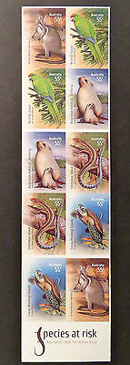 Australian Decimal Stamps: 2009 Species at Risk-Joint Territories Set 10 P&S MNH