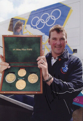 Matthew Pinsent, Olympic rowing gold medal winner, signed 12x8 inch photo. COA.