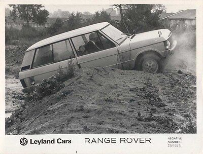 Range Rover Original black & white Press Photograph No. 259585