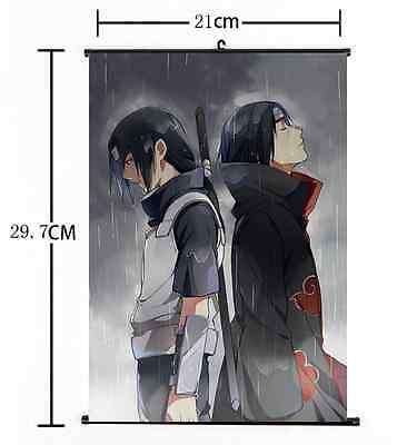 Hot Japan Anime Naruto Art Itachi Cosplay Wall Scroll Poster Home Decor 21*30CM