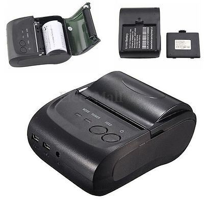 Mini Bluetooth Wireless 58mm Thermal Dot Receipt Printer for PC Android Mobile