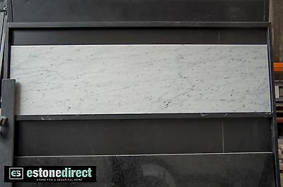 NEW White Carrara Marble Fireplace Hearth, Mantle, Table Top 1500x400x20mm