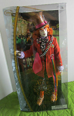 Collectible Disney's Alice Through The Looking Glass Mad Hatter Doll