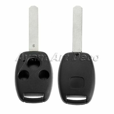 3 Buttons Car Remote Key Shell Case Fob for Replace HONDA Accord Civic CRV Pilot