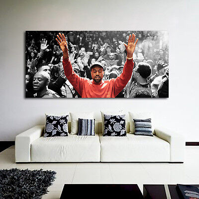 Poster Mural Kanye West Madison Square 27x58 inch (69x147 cm) on Adhesive Vinyl