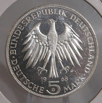 1968-G Germany Mark 5. Nice Higher Grade Collector Coin For Collection Or Set.
