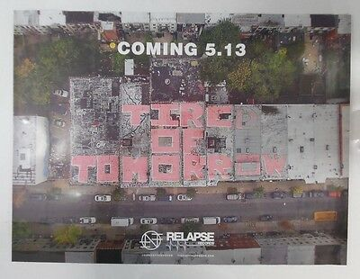 """Nothing - Tired of Tomorrow * Promo Poster 18"""" x 24"""" * Rare Limited"""