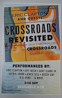 """Eric Clapton Presents Crossroads Revisited * Promo Poster * 11"""" x 17"""""""
