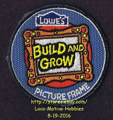 LMH PATCH Badge  2010 PICTURE FRAME Pictureframe Photo  LOWES Build Grow Clinic