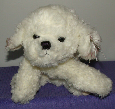 """Russ Trixie Bishon Frise Puppy Dog 12"""" Long 36833 New With Tags ~ Do"""