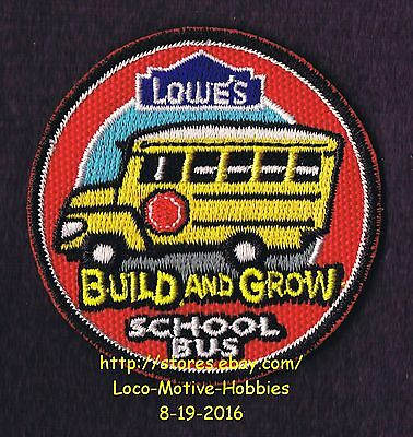 LMH PATCH Badge SCHOOL BUS Schoolbus LOWES Build Grow Project Series red