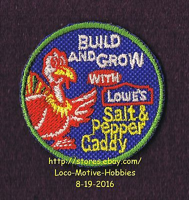 LMH PATCH Badge '04 SALT PEPPER TURKEY CADDY Shaker LOWES Build Grow Kids Clinic