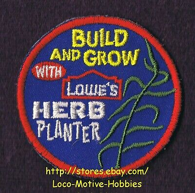 LMH PATCH Badge  2007 HERB PLANTER Garden Box  LOWES Build Grow Kids Clinic