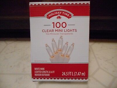 100 Clear Mini Lights White Wire Christmas Wedding Strings  Free Ship