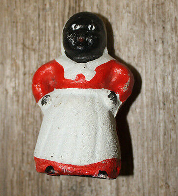"Cast Iron Black Americana ""MAMMY"" Piggy Bank 3"" inch tall Aunt Jemima Old Style"