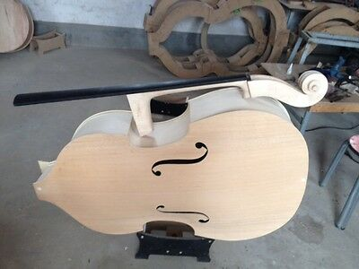 Hand made white/unfinished upright bass 3/4, plywood