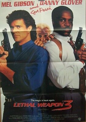 Mel Gibson Danny Glover LETHAL WEAPON 3(1992)Original US one sheet cinema poster