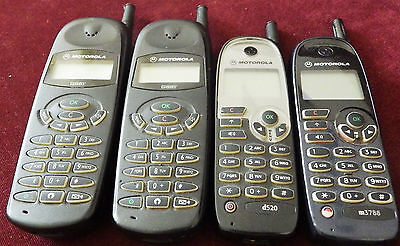 Lot Of 4 Vintage Collectible Mobile Phone Motorola d520 m3788 mg1-4c12