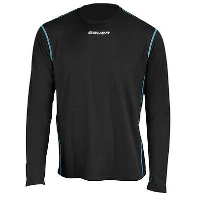 NWT New Bauer Next Generation NG Core LS Crew Top Youth Black 1042835