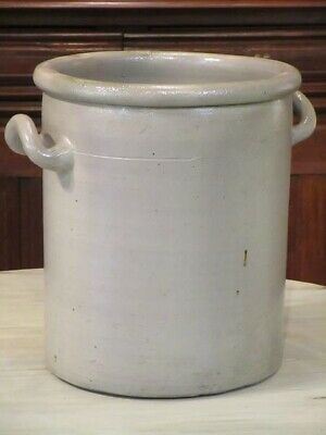 French grey stoneware glazed olive pot - large