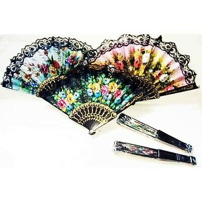 Ladies Hand Fan With Edging