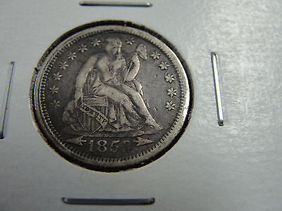 1853Liberty Seated dime-ef + see pictures you grade -arrows at date