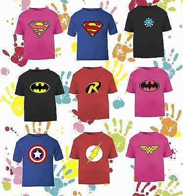 Super Hero Baby And Childrens T-Shirt Add Any Name