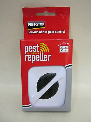 New Pest Stop Pest Repeller For Large Whole House Mouse And & Rat Plug In 370m