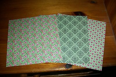 3X Scrapbooking Paper/2 Sided/ 15X15 Cm (A202) New New