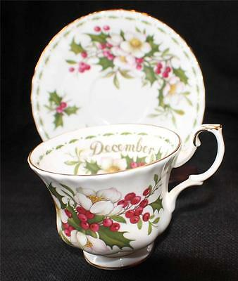 ROYAL ALBERT England Flower of Month Series CHRISTMAS ROSE DECEMBER Cup & Saucer