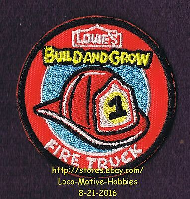 LMH PATCH Badge FIRE TRUCK Engine #1 Firetruck Build Grow LOWES Project Series r