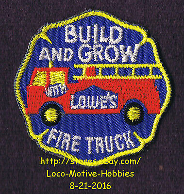 LMH PATCH Badge FIRE TRUCK Engine Firetruck Build Grow LOWES Project Series blue