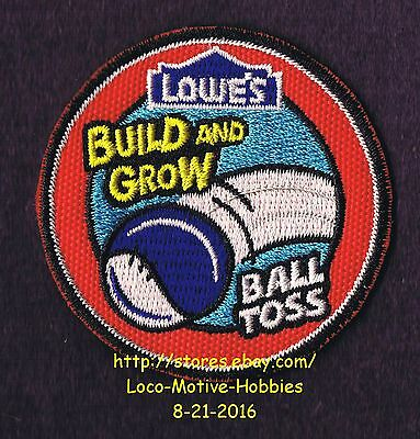 LMH PATCH Badge  2009 BALL TOSS Game Board LOWES Build Grow Project Balltoss red