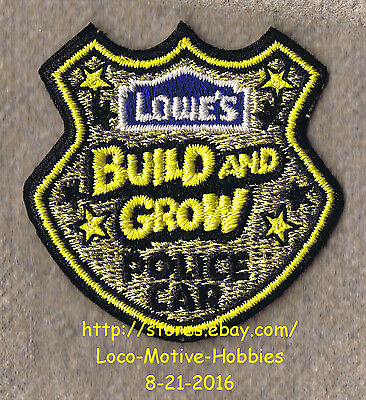 LMH PATCH Badge 2011 POLICE CAR Cop Cruiser Shield  LOWES Build Grow Kids Clinic