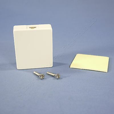 Eagle White Wall Surface Mount Voice/Data Telephone Modular Jack 4-Wire 3556-4W