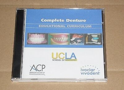 Ivoclar Ivocap Complete Denture Educational CD for UCLA School of Dentistry NEW