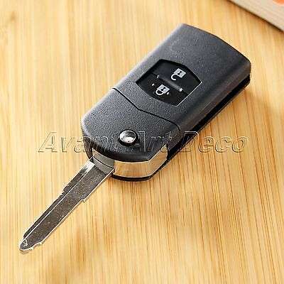 2 Buttons Replacement Car Remote Flip Lock Unlock Key Case Shell for Mazda 3 5 6